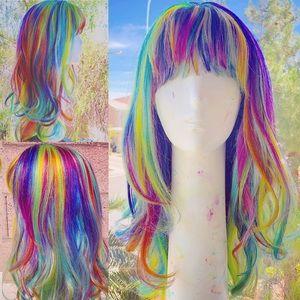 Rainbow 100% Human Hair Wig
